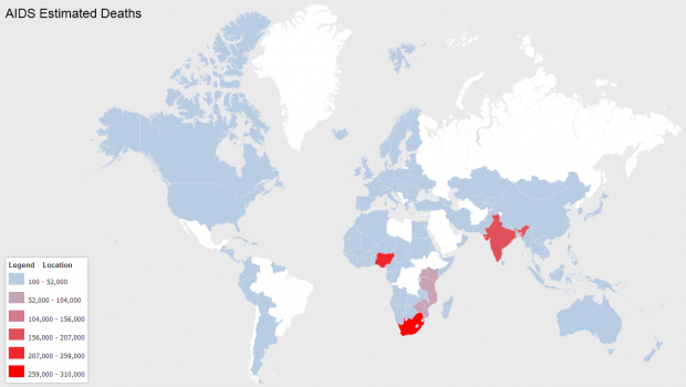AIDS estimated deaths