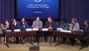 Honorees of the White House's Champions of Change in open government and civic hacking