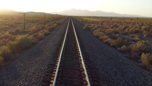 A photo from the train during Data Innovation Across America