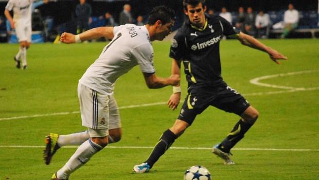 Soccer stars Cristiano Ronaldo and Gareth Bale square off.