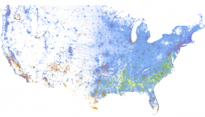 The Racial Dot Map, by Dustin Cable