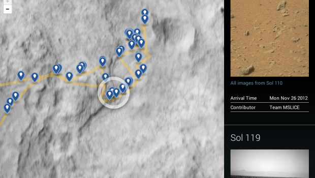 mars rover visualization