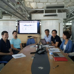 Azizan Aziz (center) with his team at Carnegie Mellon's Intelligent Workplace