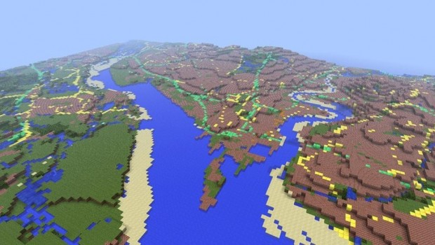 Minecraft map of Great Britain