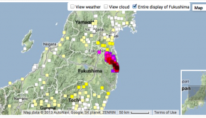 A new interactive map visualization tracks radiation levels around Fukushima, Japan.