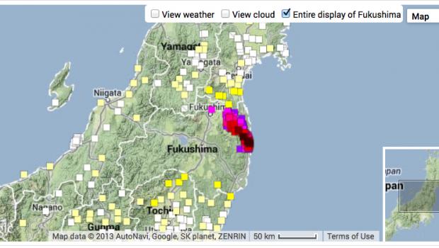 A new interactive map visualization tracks radiation levels around Fukushima, Japan.