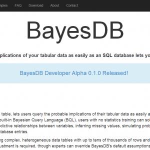 BayesDB announces alpha release.