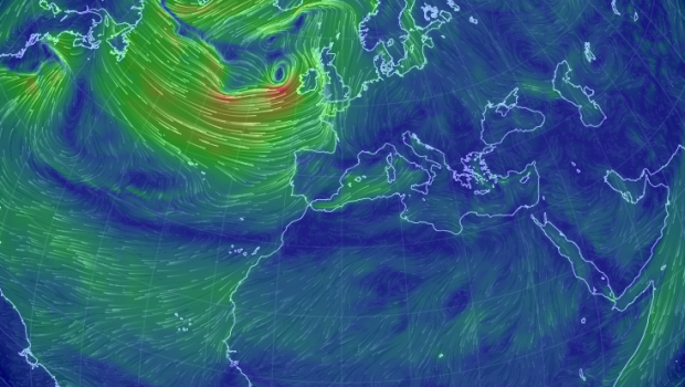 Earth: an interactive visualization of global wind.