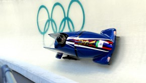 A bobsledder during the 2010 Olympics.