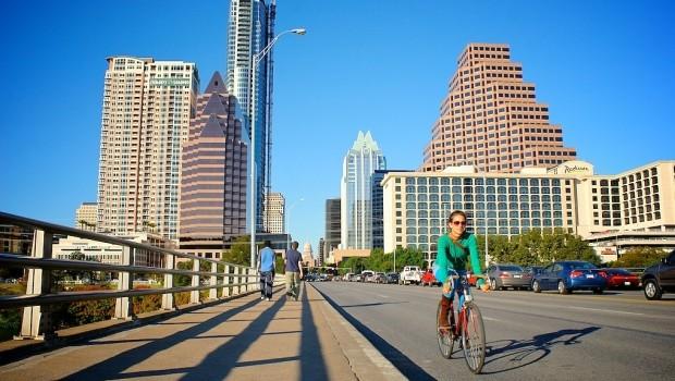 A commuter in Austin, Texas