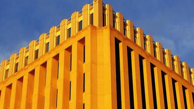 The International Monetary Fund headquarters.