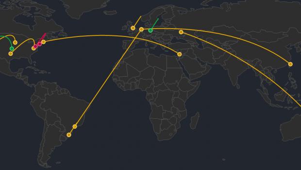 Git Live, a visualization of activity on GitHub.