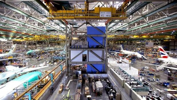 Boeing factory outside Seattle, Washington.