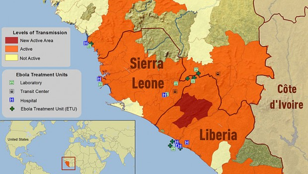 Mapping the Ebola outbreak in Western Africa