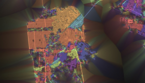 The orientation of streets in San Francisco, visualized.