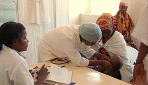 A malaria treatment center in Angola.