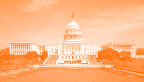 U.S. Capitol Building with orange screen