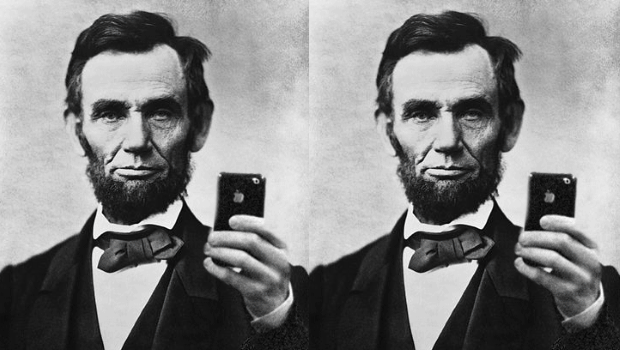 President Lincoln Taking a Selfie
