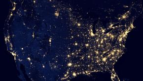 U.S. at night