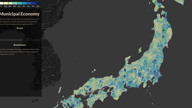 Center For Data Innovation Visualizing The Performance Of - Japan map data