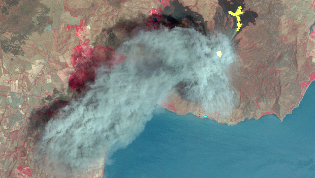 Satellite image from ASTER