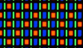 Closeup of an OLED screen