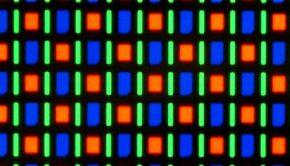Closeup of an OLED screen
