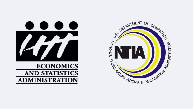 Logos for ESA and NTIA