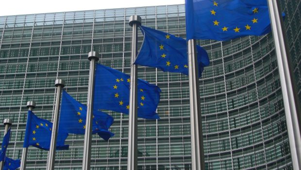 European Commission flags