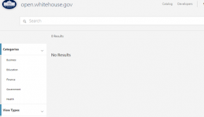White House Open Data Portal